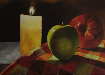 Fruit in kaarslicht