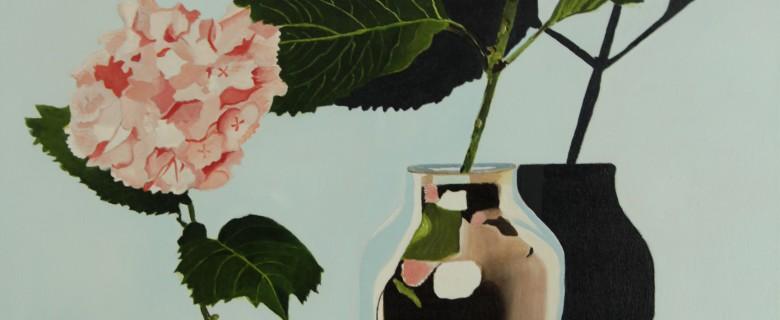 Thermosvasen met bloemen
