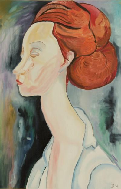Portret Modigliani uitvoering