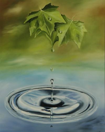 Waterdruppels in beweging