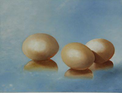 Eieren  gespiegeld