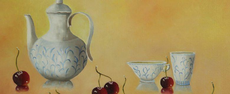 Koffiepot  met kersen