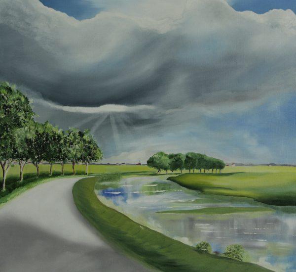 Landschap in de zon