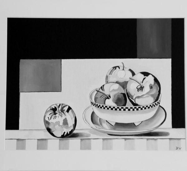 Appels  zwart  / Wit